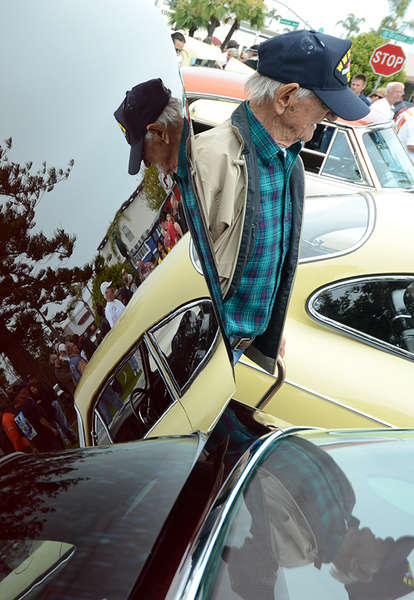 Coronado resident, Frank Myers at the annual car show.