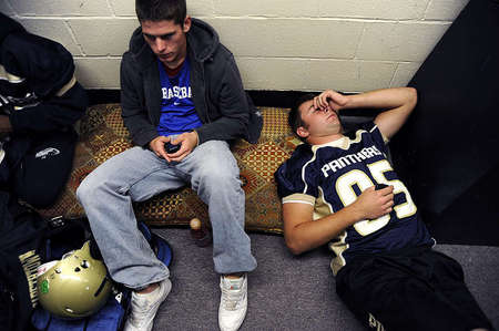 Mitchell Henry, right, helped Elizabethtown High School win two important games this season. Those victories will put the team in contention for the playoffs. But Mitchell said he could always do better, even if he sometimes feels exhausted from such efforts.