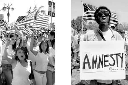 Demonstrators  of all races and ages came together to march for amnesty rights.